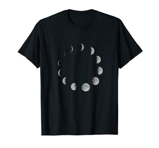 2eab00fb574d Image Unavailable. Image not available for. Color: Luna Moon Phases T-Shirt  ...