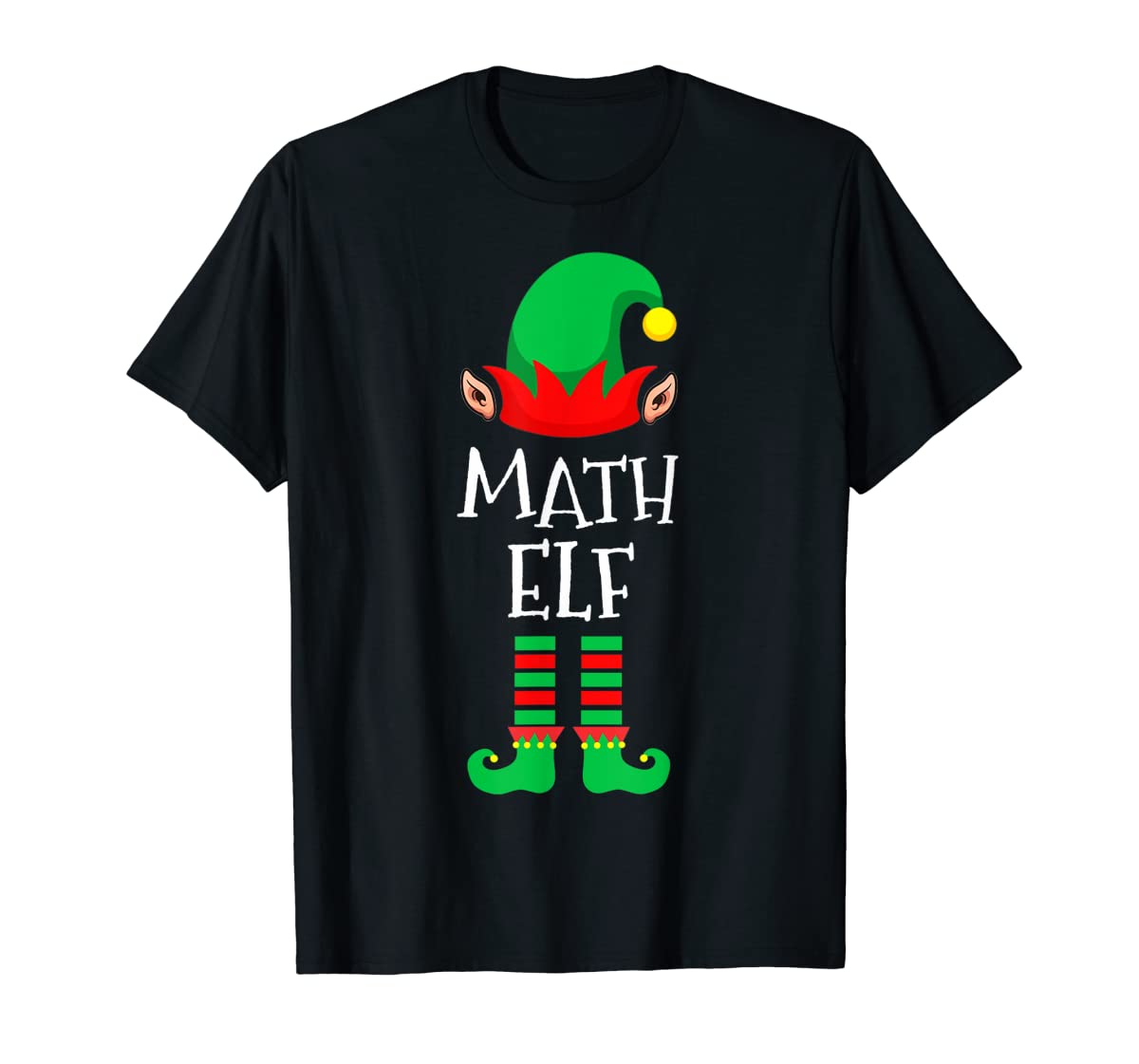 Math Elf - Funny School Teacher Christmas T-Shirt-Men's T-Shirt-Black