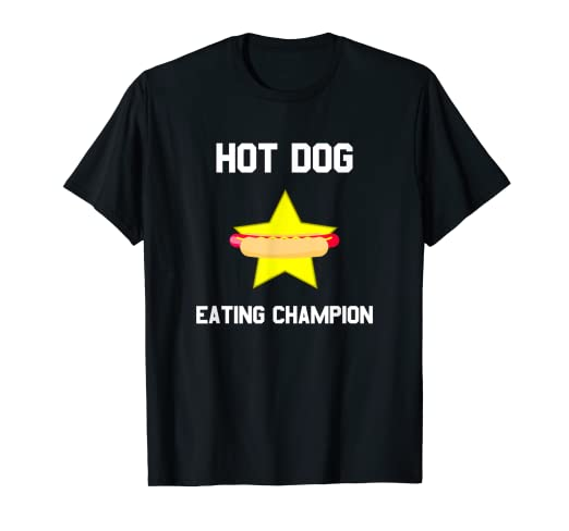 6f7c538d8 Amazon.com  Hot Dog Eating Champion T-Shirt  Clothing