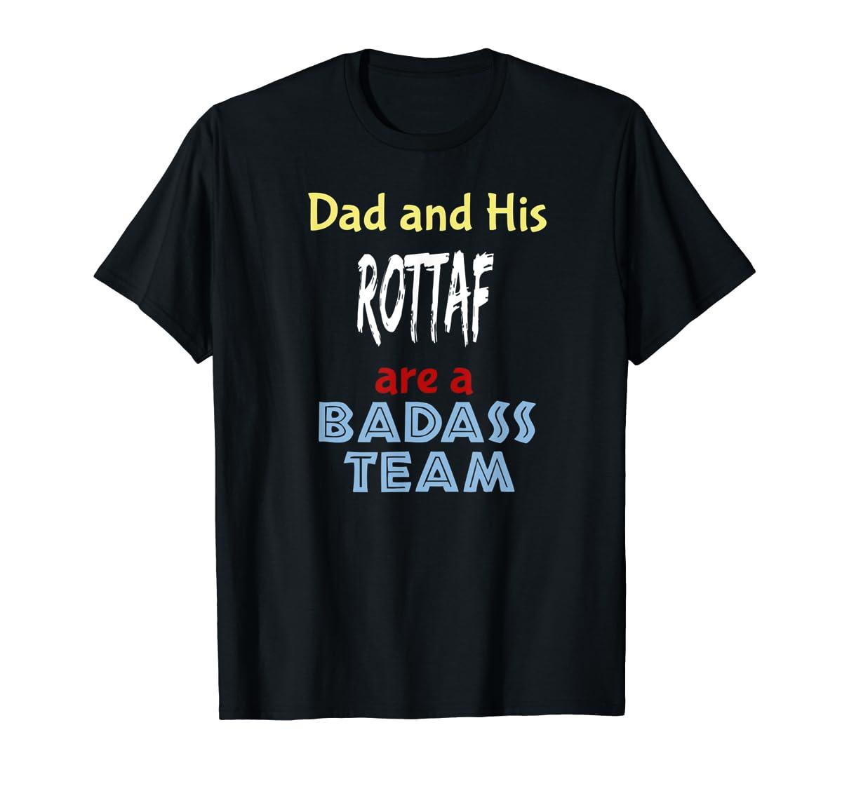 Mens Rottaf Dog Shirt Love Rottweiler + Afghan Hound =  T-Shirt-Men's T-Shirt-Black