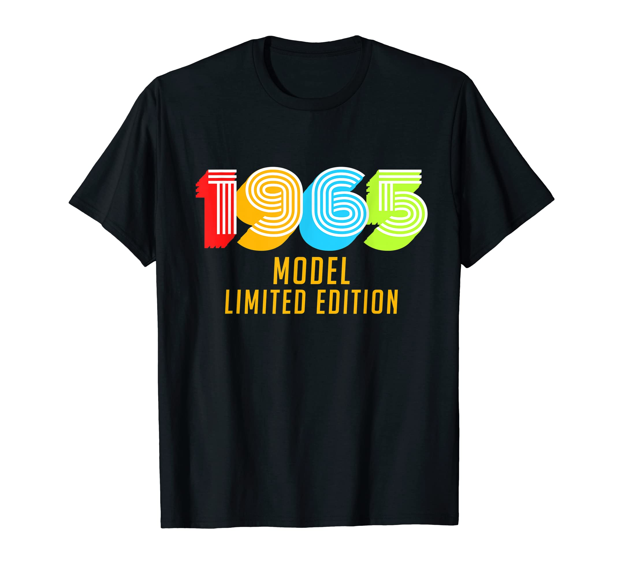528b60190 Amazon.com: 1965 Model Funny 54th Birthday Retro Vintage T-Shirt Gifts:  Clothing