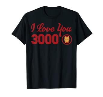 98c16142 Image Unavailable. Image not available for. Color: Marvel Avengers Endgame Iron  Man I Love You 3000 Red Logo T-Shirt