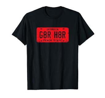 6458754a61a Amazon.com: G8R H8R Georgia License Plate Football T-Shirt: Clothing