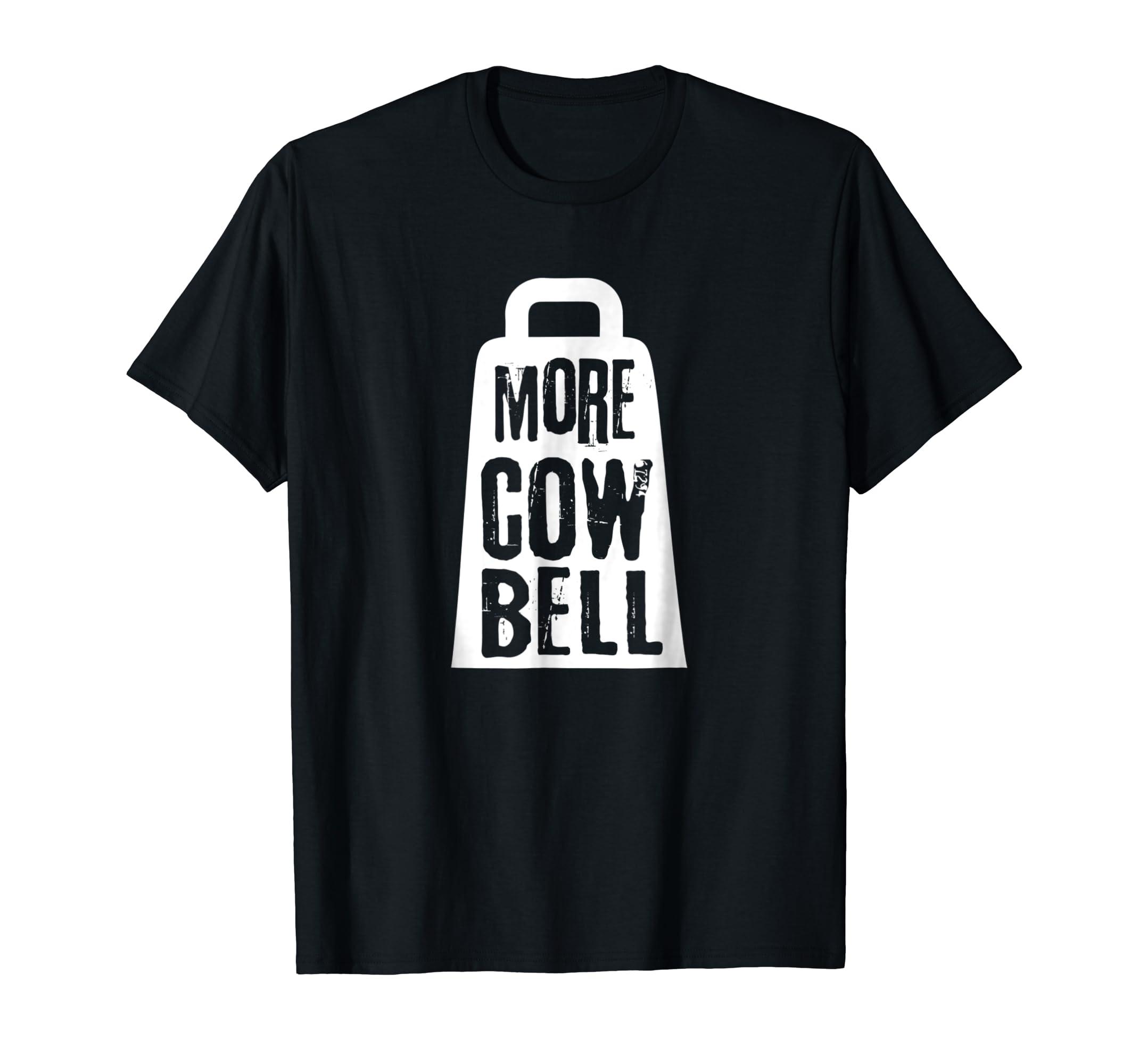 funny more cow bell t shirt-Men's T-Shirt-Black