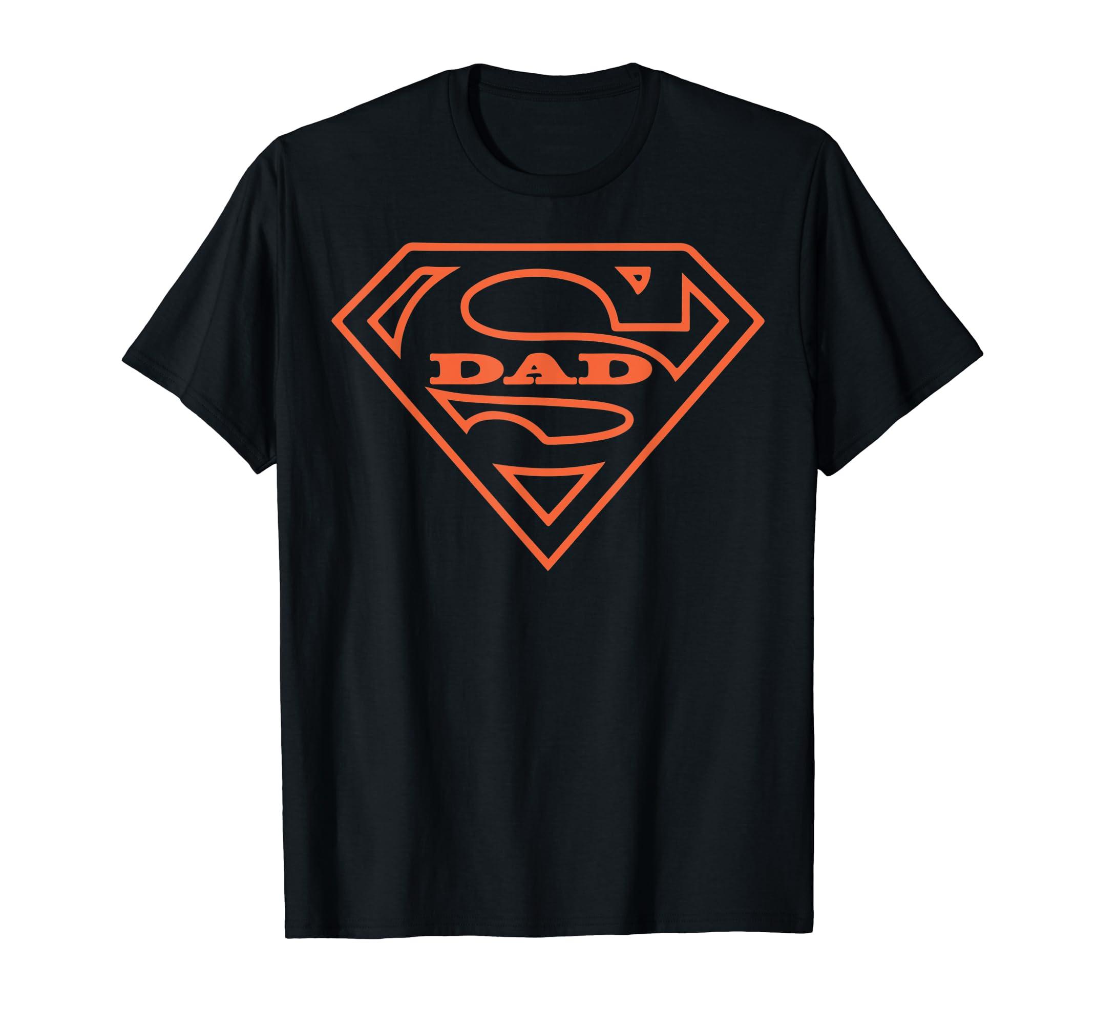 Super Dad T Shirt Father's Day Orange Cool Gift Men Tee-Men's T-Shirt-Black
