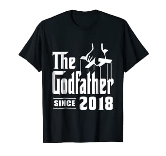 Image Unavailable Not Available For Color Godfather Tshirt Since 2018 Birthday Gift Dad