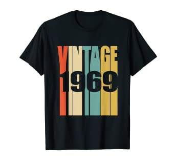 5612b9e1e Amazon.com: Retro Vintage 1969 T-Shirt 50 yrs old Bday 50th Birthday ...