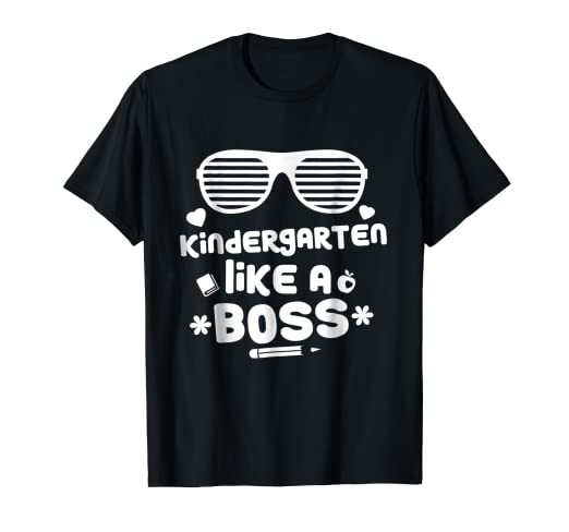 Amazoncom Kindergarten Girls Shirt Like A Boss School Funny Tee