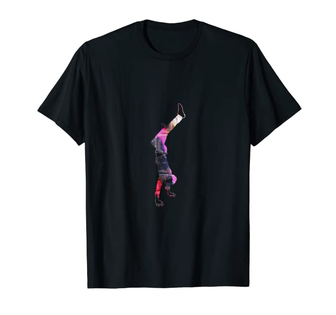 Graffiti Street Dancer with spray paint background T Shirt 3