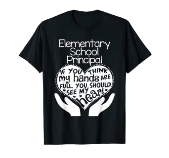 e8a03dbf Amazon.com: Elementary School Principal Heart T shirt Teacher Group ...