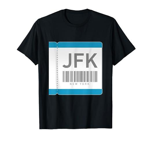 Amazon com: JFK Airport New York IATA Code Gift Shirt: Clothing