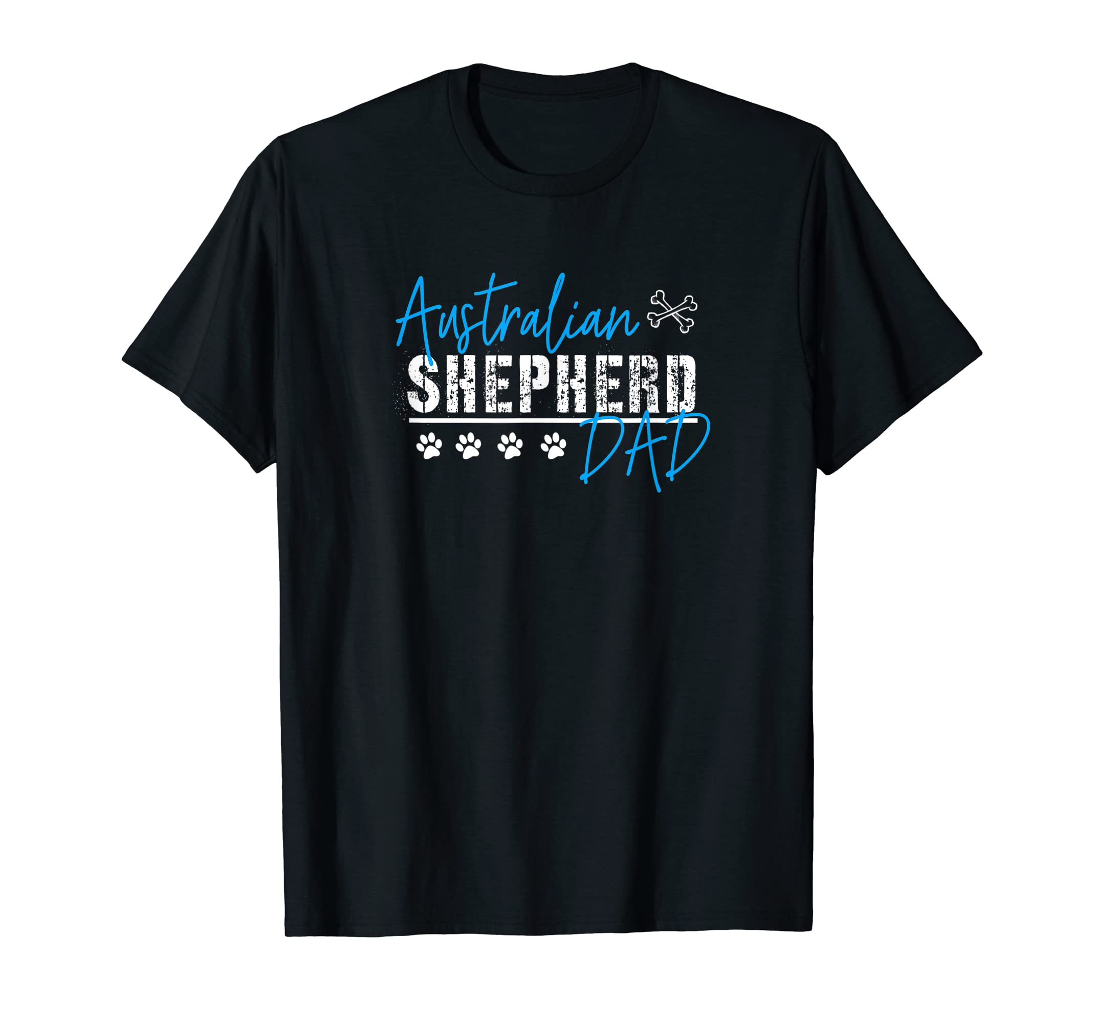 Australian Shepherd Dad Shirt-Men's T-Shirt-Black