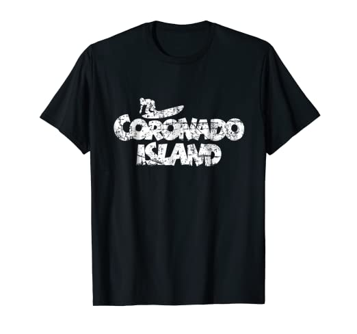 91169cf4 Amazon.com: Coronado Island Surf T-Shirt: Clothing
