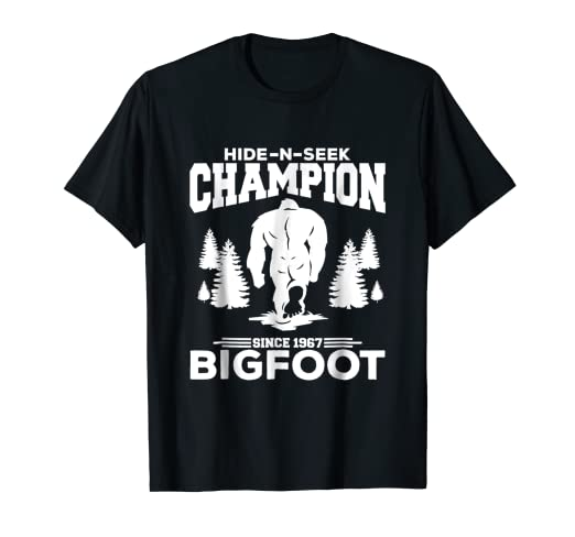 071c296f9 Image Unavailable. Image not available for. Color: Undefeated Hide And Seek  Champion Bigfoot T-Shirt