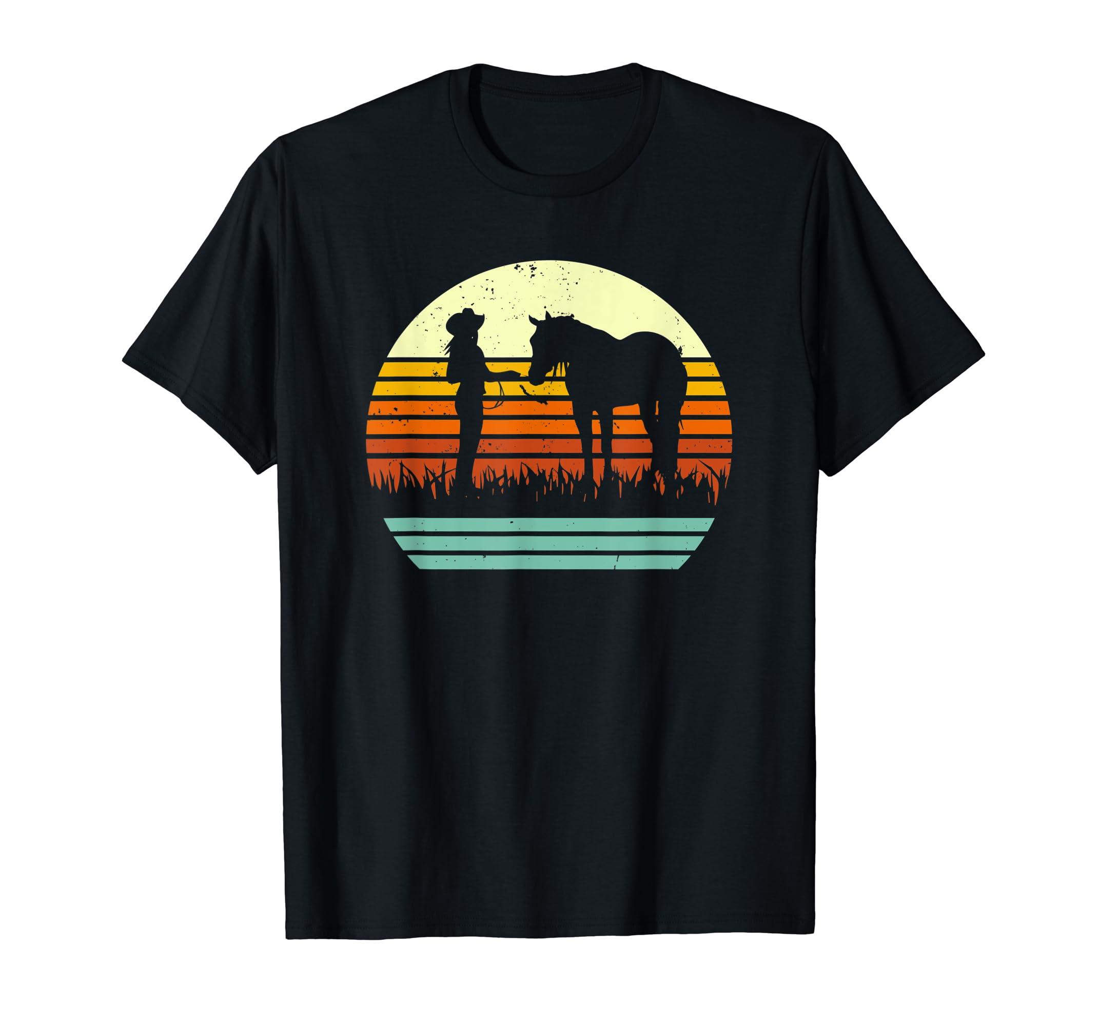 Halter Horse Horse Show Retro Style T-Shirt-Men's T-Shirt-Black
