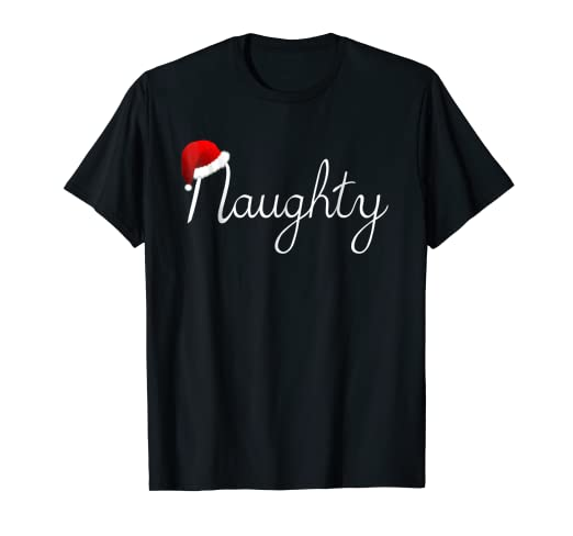 a4261c20b Image Unavailable. Image not available for. Color: Matching Naughty & Nice  Shirt Naughty List Christmas ...