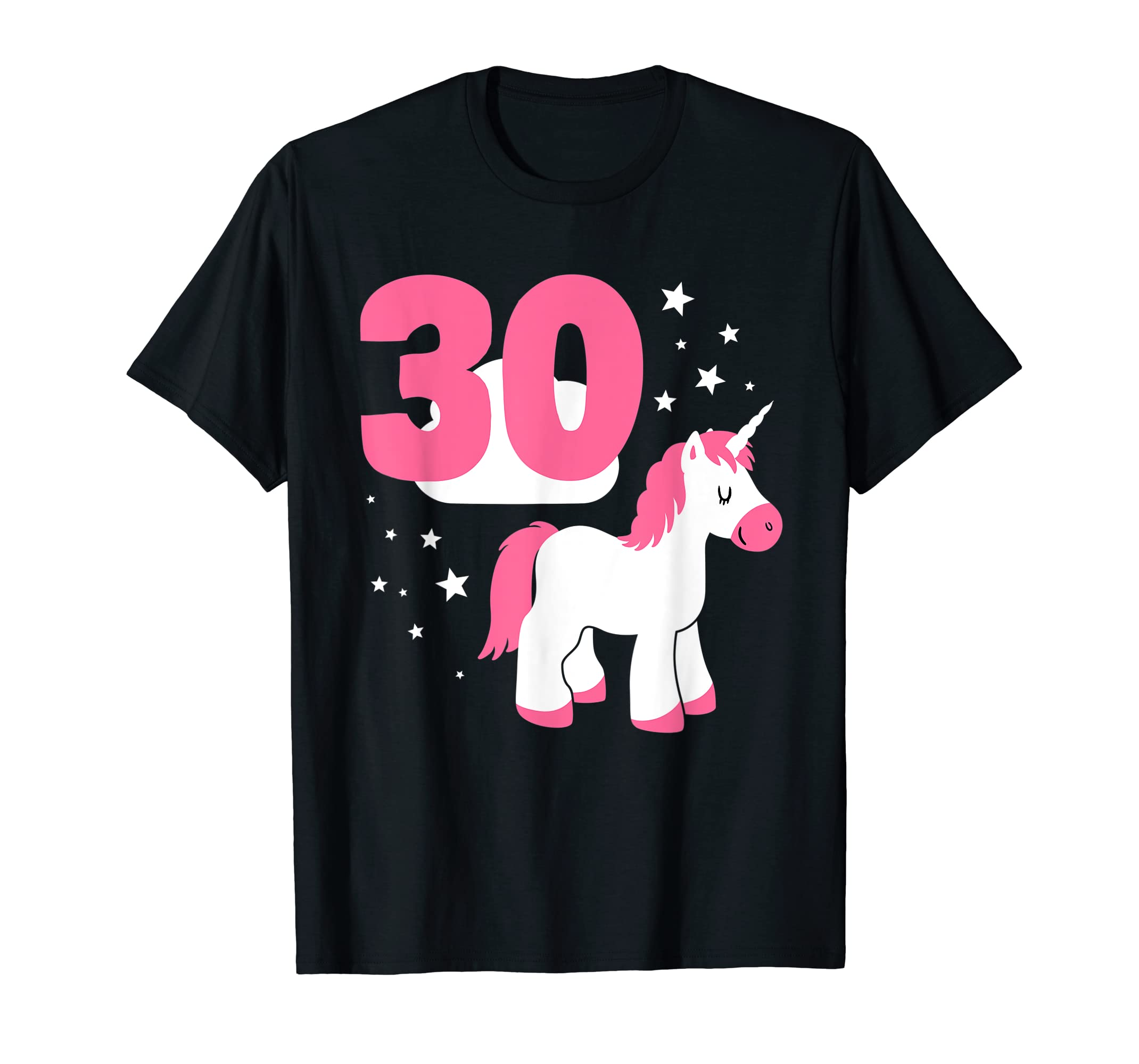 Amazon 30th Birthday Girl Cute Unicorn Age Thirty Year Old Gift Clothing