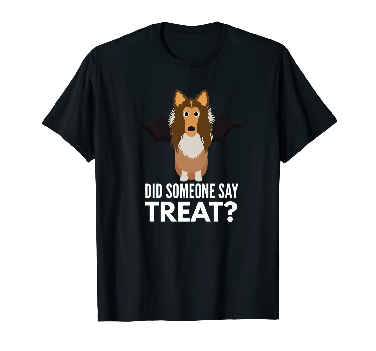 Rough Collie Halloween - Did Someone Say Treat? Premium T-Shirt-Men's T-Shirt-Black