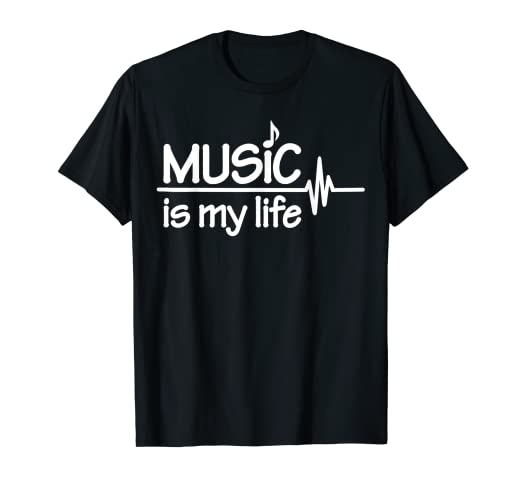 71046c2c Image Unavailable. Image not available for. Color: Music is my life T-Shirt