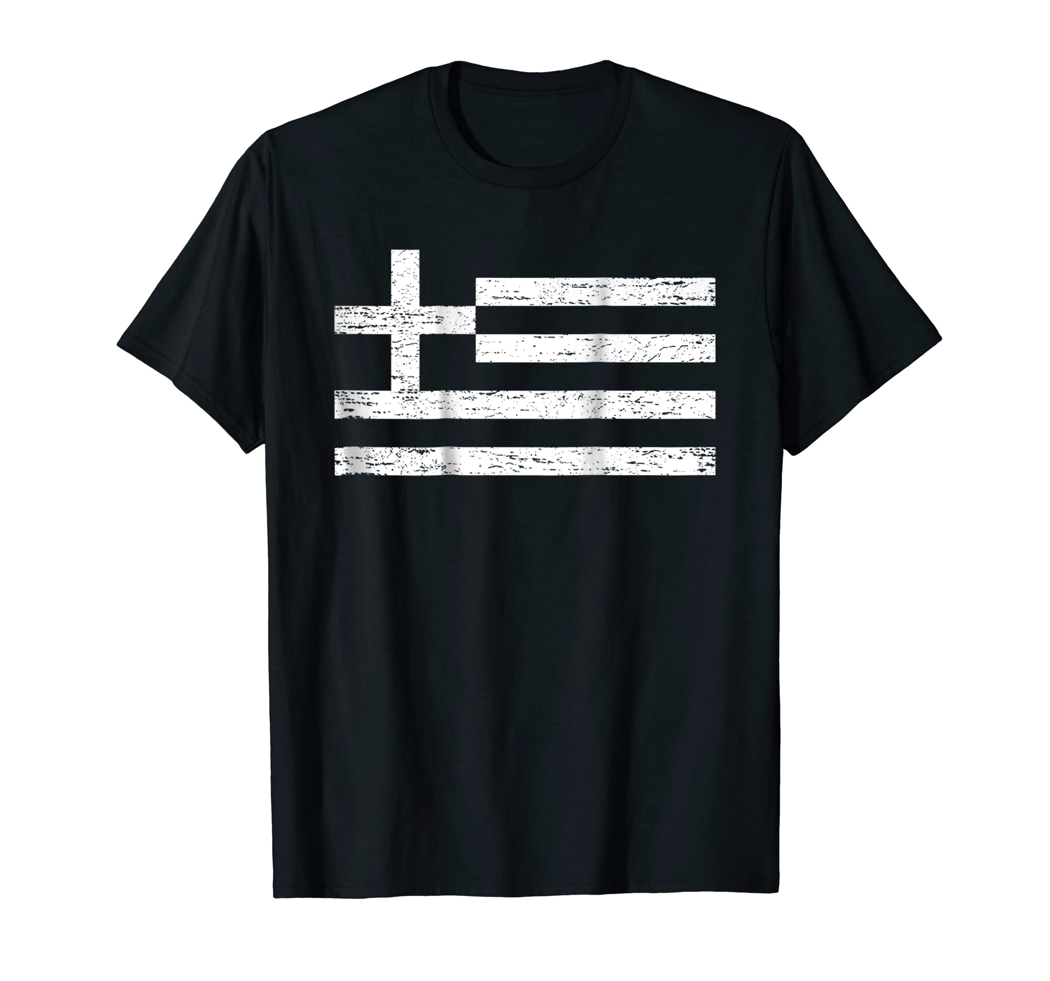 Greece Flag Shirt - Flag of Greece for Greek People-Men's T-Shirt-Black