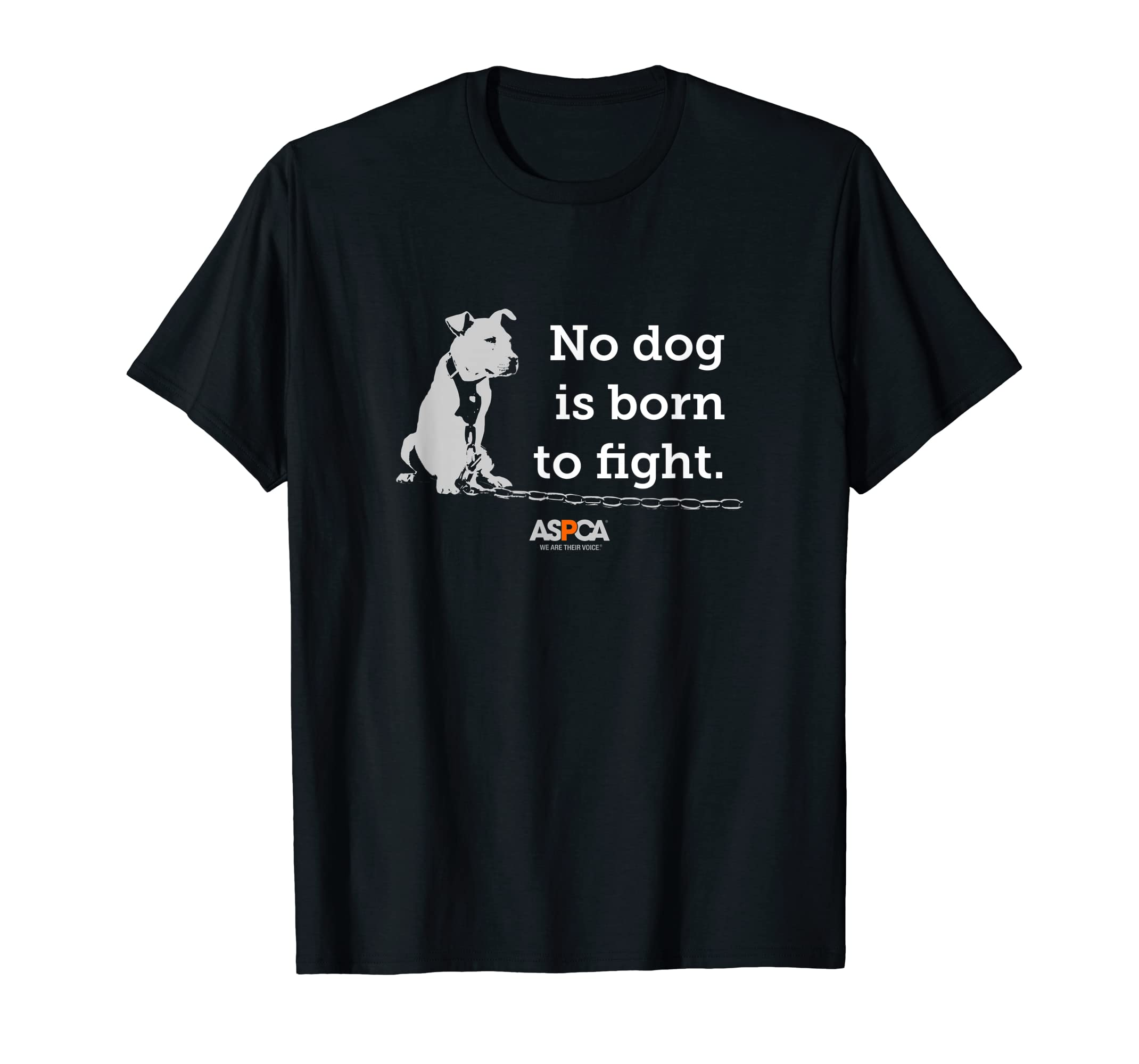 ASPCA No Dog is Born to Fight T-shirt-Men's T-Shirt-Black