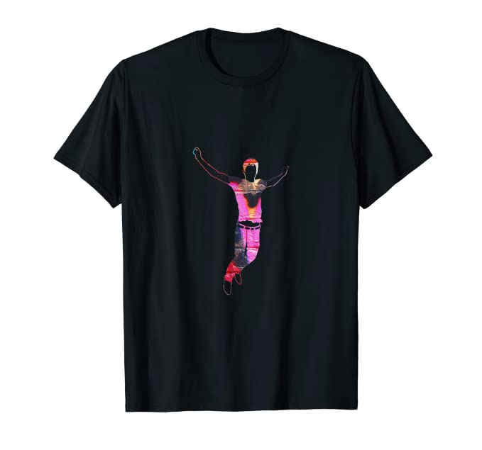 Graffiti Street Dancer with spray paint background T Shirt 4
