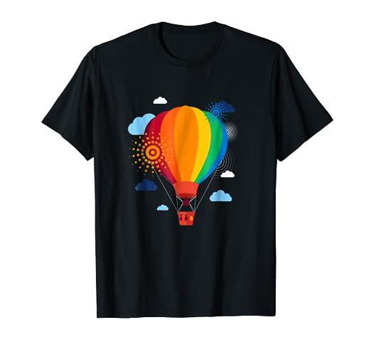 6630077b9d291 Amazon.com: Hot Air Balloon T-Shirt Hot Air Balloon Rides Festival ...