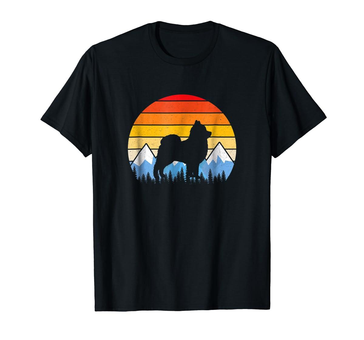 Vintage Retro Pomeranian Lovers Gifts Pomeranian T Shirts-Men's T-Shirt-Black