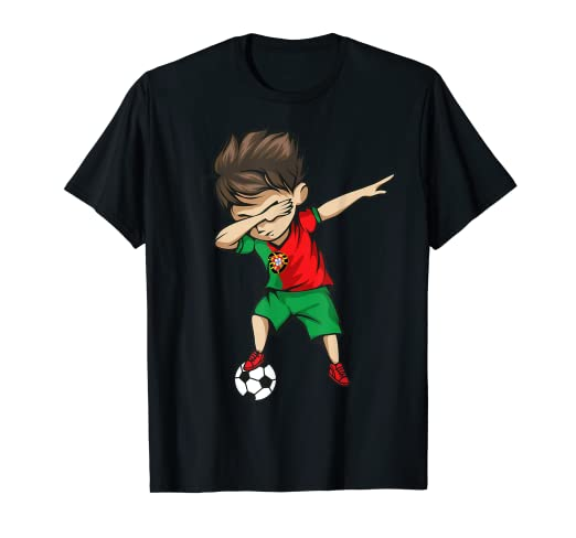 2a8199381 Image Unavailable. Image not available for. Color: Dabbing Soccer Boy Portugal  Jersey Shirt Portuguese Football