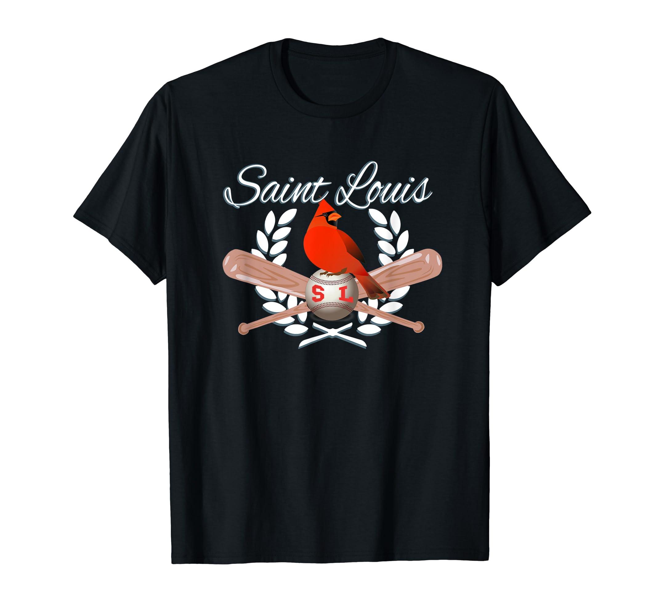 Cardinal Angel Bird Saint Louis Shirt-Men's T-Shirt-Black