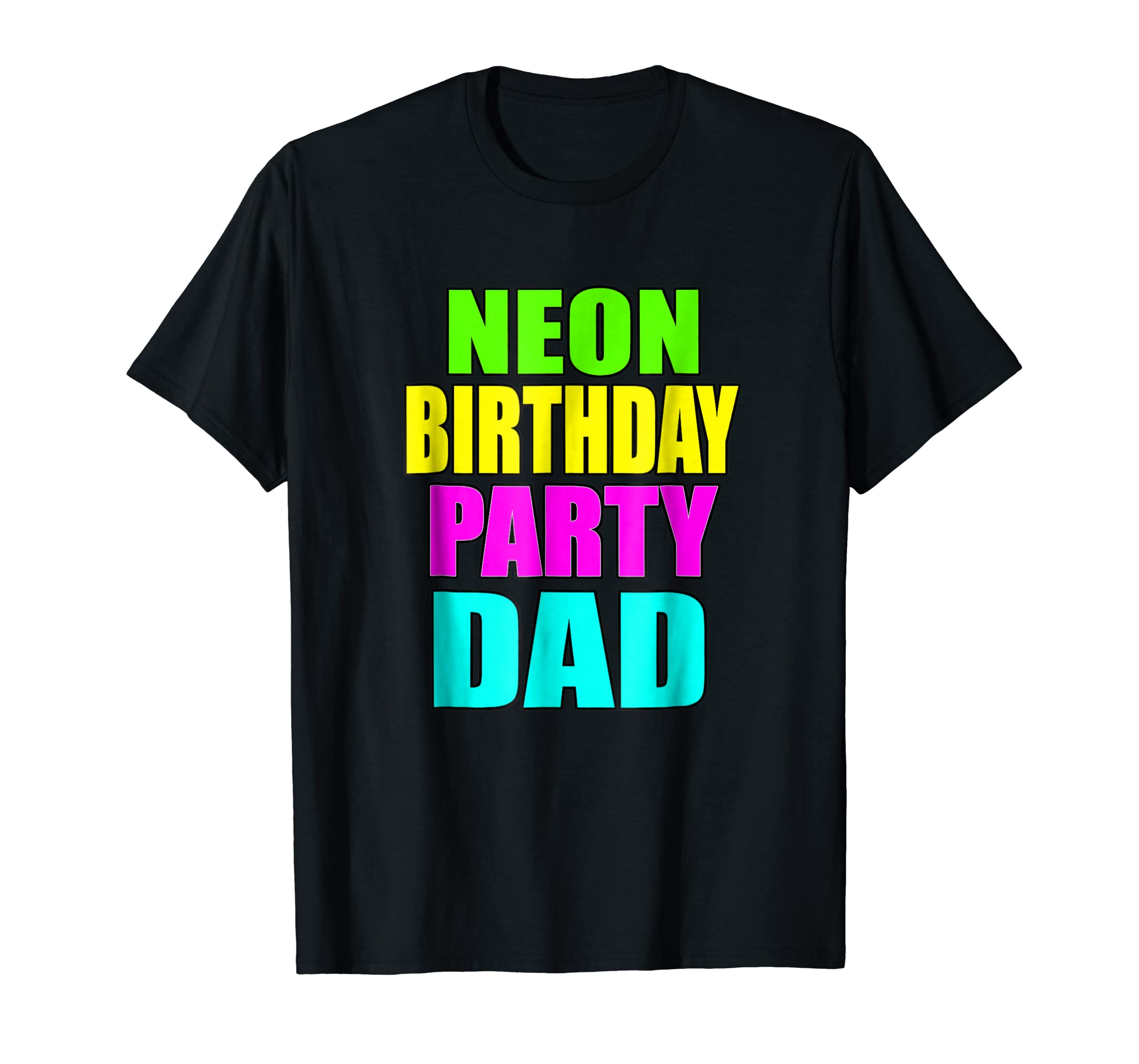 Amazon Mens Neon Birthday Party Dad Matching Family Shirts Clothing
