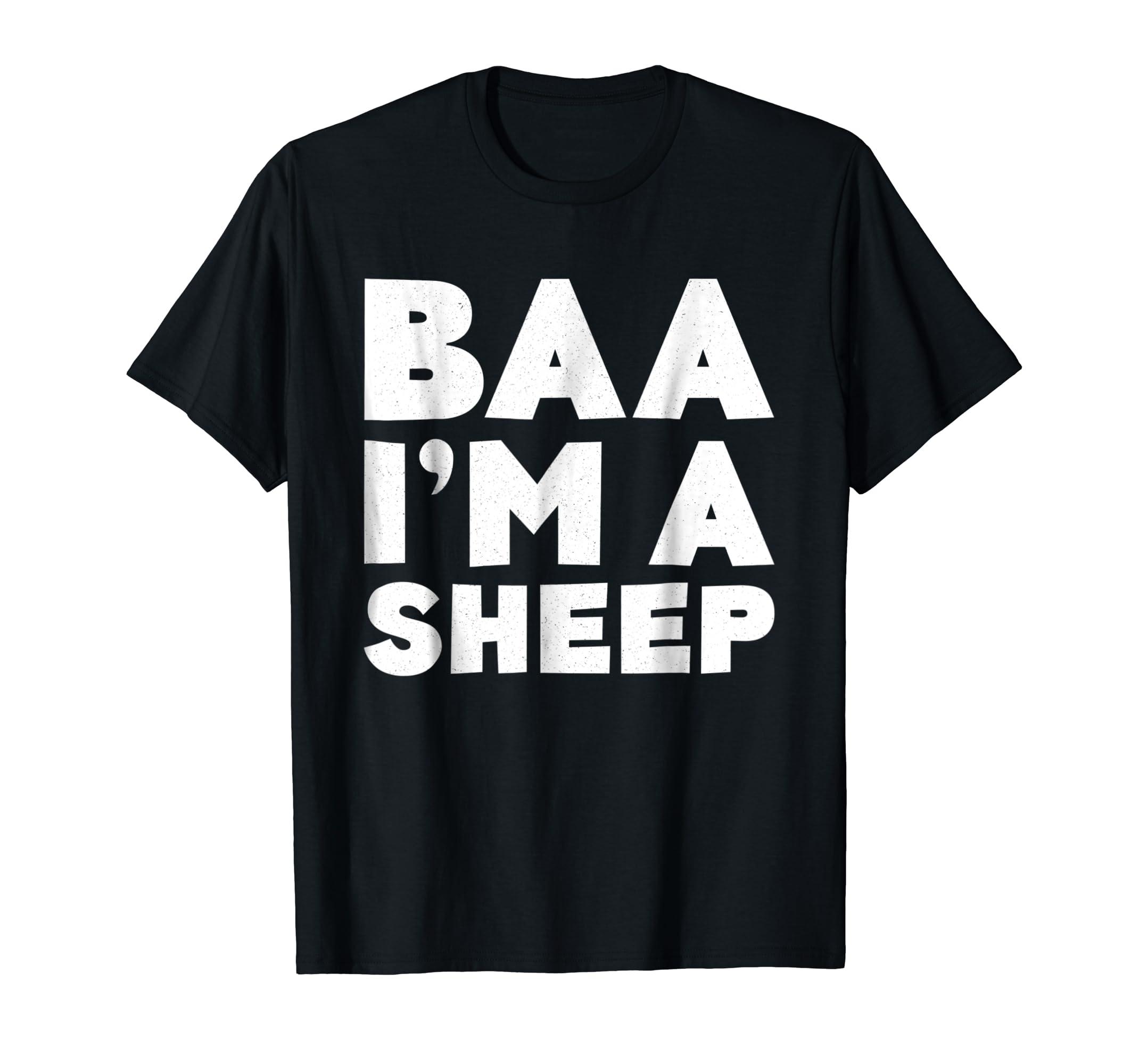 Baa I'm A Sheep T-Shirt Costume Gift Shirt-Men's T-Shirt-Black