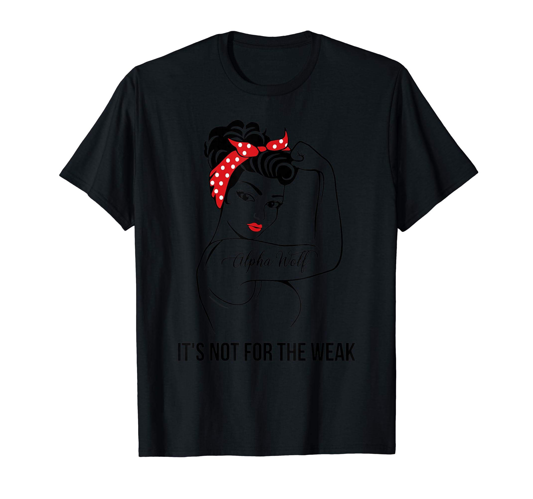 Alpha Wolf Not For The Weak Job Shirts-Men's T-Shirt-Black