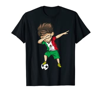 7a30085ce Image Unavailable. Image not available for. Color: Dabbing Soccer Boy  Mexico Jersey Shirt - Mexican Football