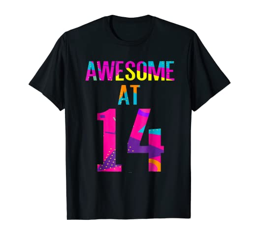 Amazon Teenage Boys Girls Aged 14 Years Birthday Gift Tee Shirt