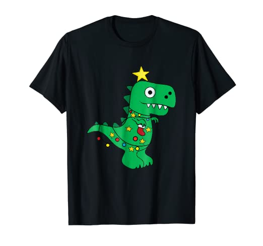 8cf3ca2f74 Image Unavailable. Image not available for. Color: Tree Rex Shirt Dinosaur T  Rex Funny Xmas Christmas Tshirts