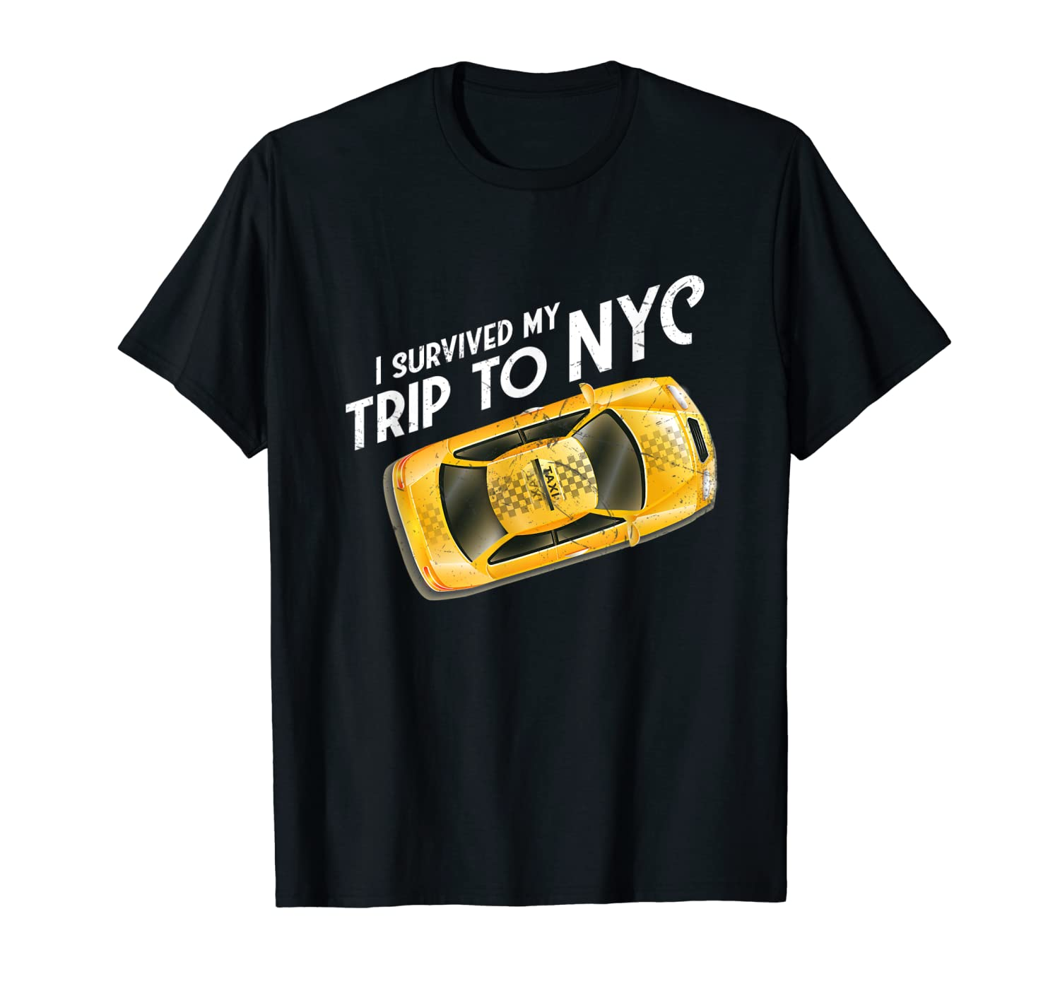 I Survived My Trip To Nyc T Shirt New York City Taxi Cab Tee