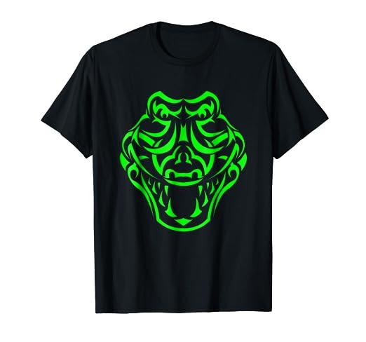 2c41369999f32 Amazon.com: Tribal Alligator Shirt. Cool Tattoo Style Crocodile T ...