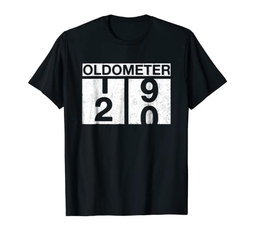 Funny 20th Birthday Gift Ideas Oldometer 20 Years Old TShirt