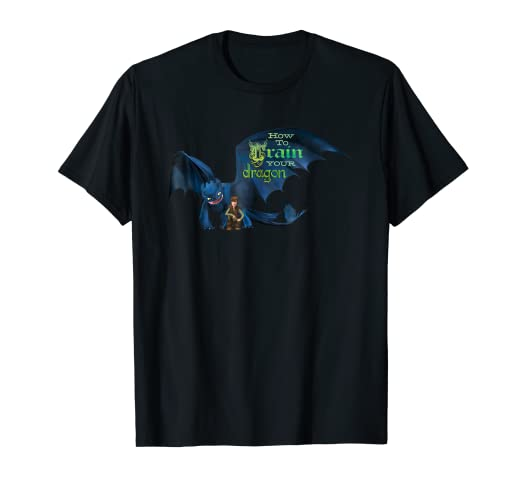 fce43b6ad242 Amazon.com: DreamWorks' Dragons: Toothless and Hiccup Title T-Shirt ...