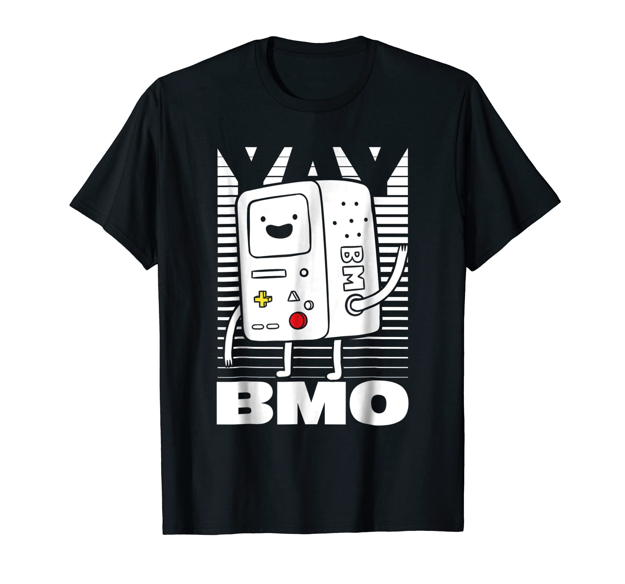 515cc8a8 Adventure Time BMO Wave YAY Halftone Fade Graphic T Shirt-azvn ...