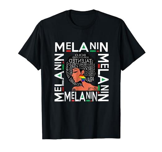 d97f6baf3 Amazon.com: Melanin Afro Queen Shirt Rainbow Africa Pride T Shirt ...