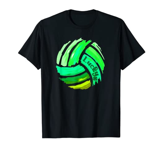 0378e26e Image Unavailable. Image not available for. Color: Volleyball St Patrick's  Day Lucky T-Shirt