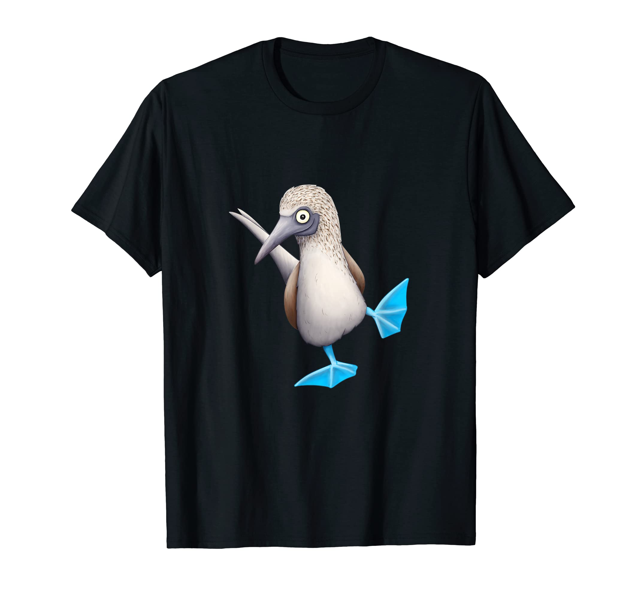 Blue-Footed Booby TShirt | Funny Fancy Dancing Tropical Bird-Men's T-Shirt-Black
