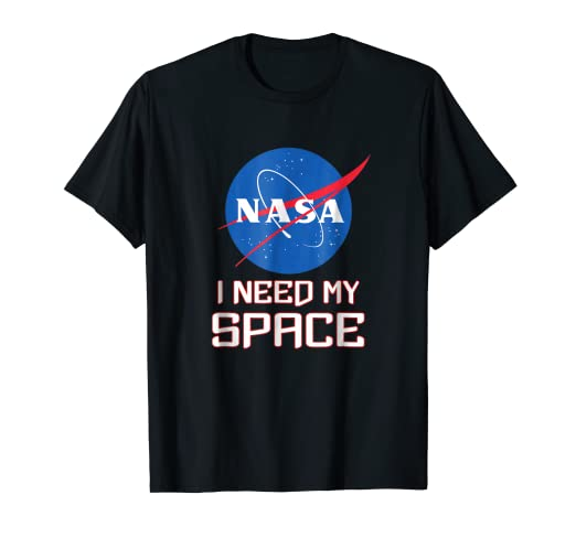 b9ee16a5 Image Unavailable. Image not available for. Color: NASA logo I need my  space t-shirt