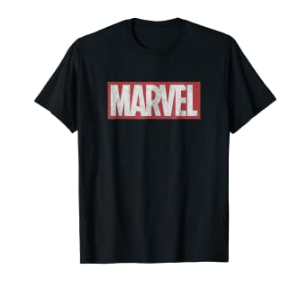 f05006d94 Image Unavailable. Image not available for. Color: Marvel Classic  Distressed Logo Graphic T-Shirt