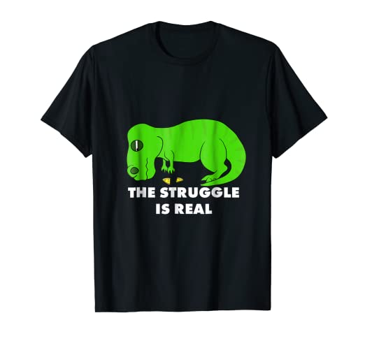 1751bf574 Image Unavailable. Image not available for. Color: Funny T Rex T Shirt - The  Struggle is Real T-Rex Tee