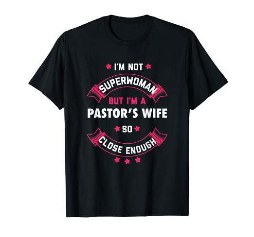 fef34a36b2e1 Amazon.com  Pastor Wife Shirt First Lady Pastoral T Shirt Women ...