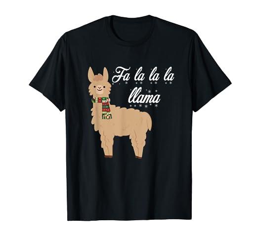 Llama Christmas Shirt.Amazon Com Llama Christmas Shirt Fa La La Llama Clothing