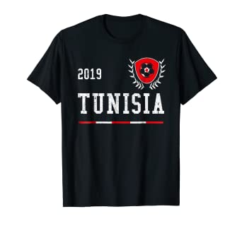 46df8bc5a Image Unavailable. Image not available for. Color  Tunisia Football Jersey  2019 Tunisian Soccer ...